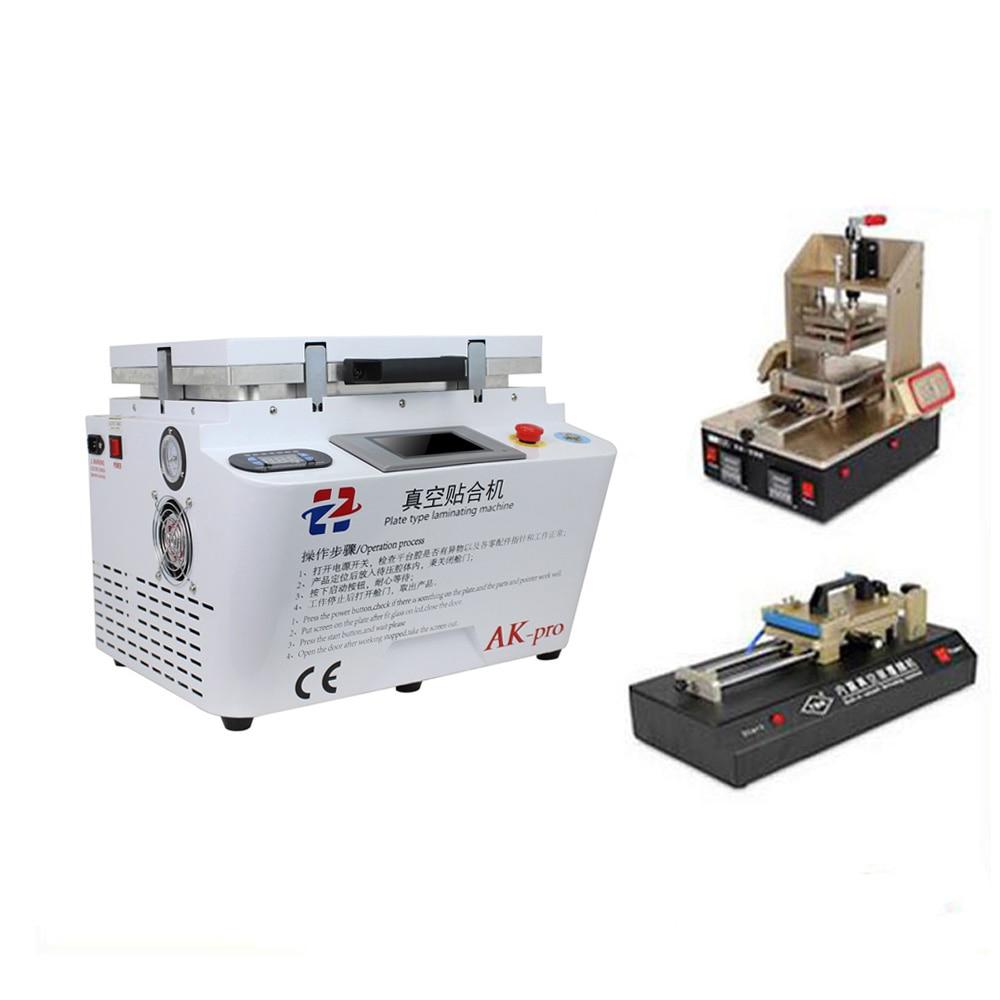 Automatinis užraktas Automatinis vakuuminis laminavimo burbulų valiklis + OCA plėvelės įrenginys +5 in1 rėmo atskyrimo įrenginys