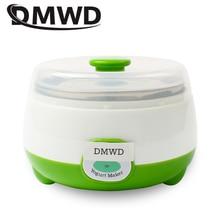 DMWD Автоматическая электрическая Йогуртница 0.8L нержавеющая сталь лайнер контейнер Natto рисовое вино ферментер DIY Leben йогурт машина