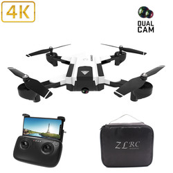 Profession 4K HD Camera Drone Dual Camera FPV Wifi RC Drone Fixed Point Altitude Hold Follow Me Dron Quadcopter Fly 20mins