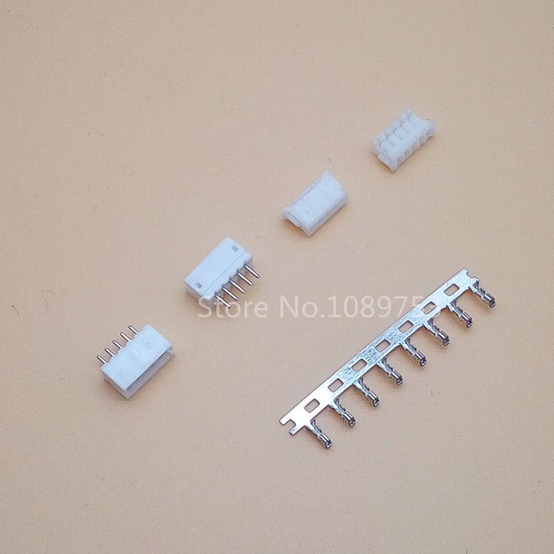 100 Sets JST ZH 1.5mm 6-Pin Male, Female Connector socket with crimps