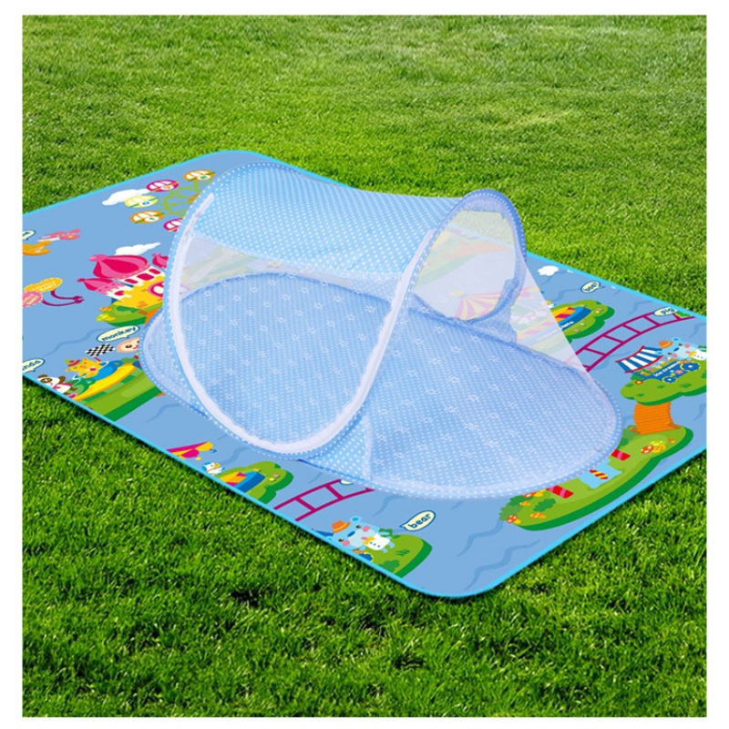 2017 Newborn Baby Bed Nets Folding Mosquito Nets Portable Folding Baby Mosquito Nets Ship Type Cradle Bed Infant Sleeping Cribs