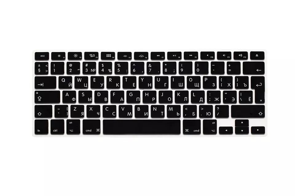 EU US Soft Silicon For Macbook A1466 Keyboard Cover Russian Language Cover For Macbook Retina13 Keyboard Cover (2)