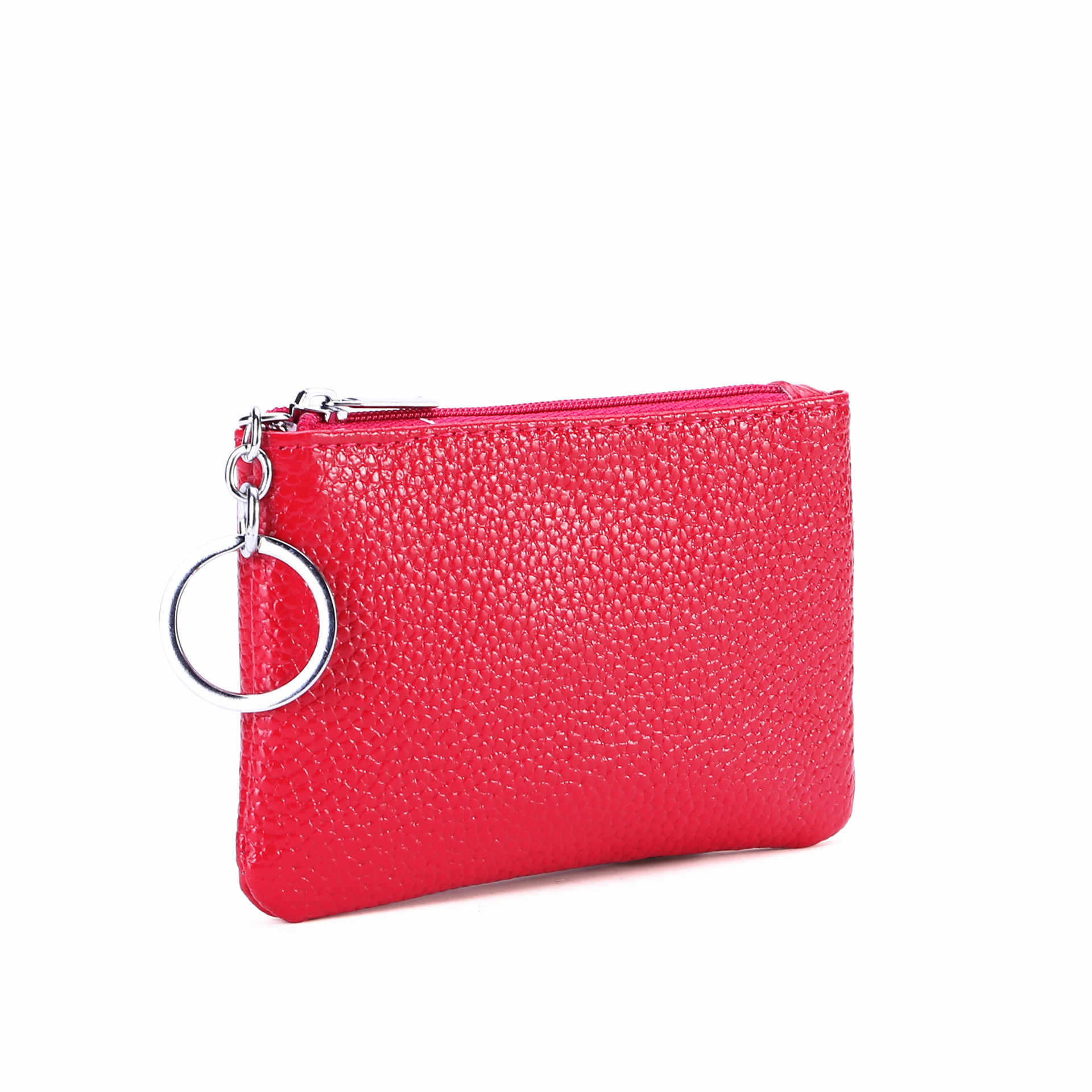5a36d53bc0ea6 Genuine Leather Wallet for Women and Men Coin Purse Mini Keychains Small  Real Wallets with Key
