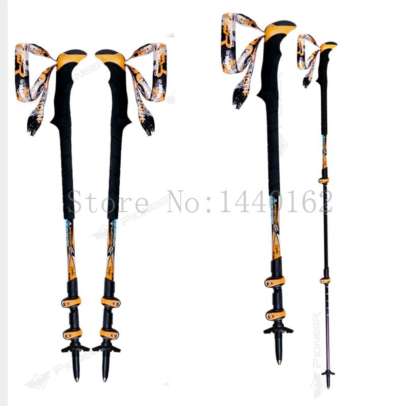 Carbon fiber ultralight nordic walking sticks telescopic trekking poles trekking hiking poles foldable walking stick