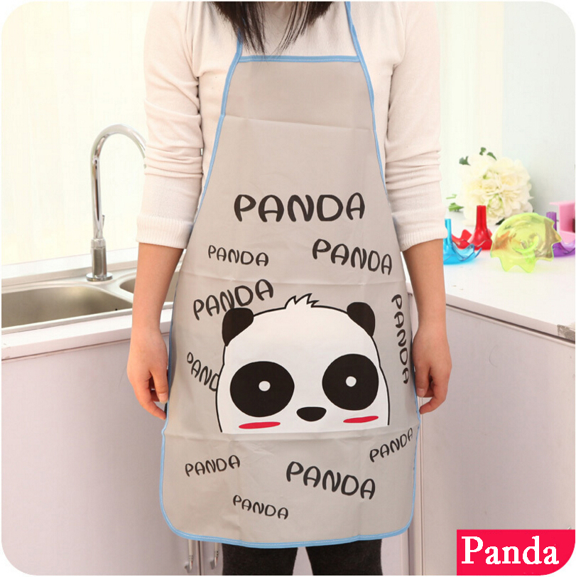 Cute Cartoon Apron Kitty Panda Rabbit Elephant Waterproof Antifouling Grease Proofing Sleeveless Bib Household Cleaning Kitchen