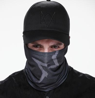 Sada Watch Dogs Maska Cap Cotton Hat Kostým Cosplay Aiden Pearce Face Mask Hat Mens 6 Panel Tactique Baseballové čepice