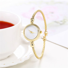 Luxury brand women watch bracelet gold casual small watch go