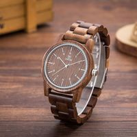 UWOOD Vintage Walnut Mens Wooden Watch Natural Wood Watch For Men Christmas Gift