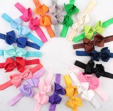 Girl Headband Bowknot Hair Band Kids Kids Solid Hair Bow Hair Accessories bandeau bebe fille 10Pcs/Lot