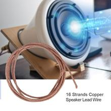 1m/2m 16 Strands Speaker Lead Wire Subwoofer Woofer Lead Wire Repair Braided Copper Wire