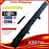 Bilgisayar ve Ofis'ten Dizüstü Bilgisayar Bataryaları'de Dizüstü pil asus için X551C X551CA X551M A41N1308 A31N1319 0B110 00250100M X45LI9C YU12008 13007D X451CA X551CA X551CA SX024H