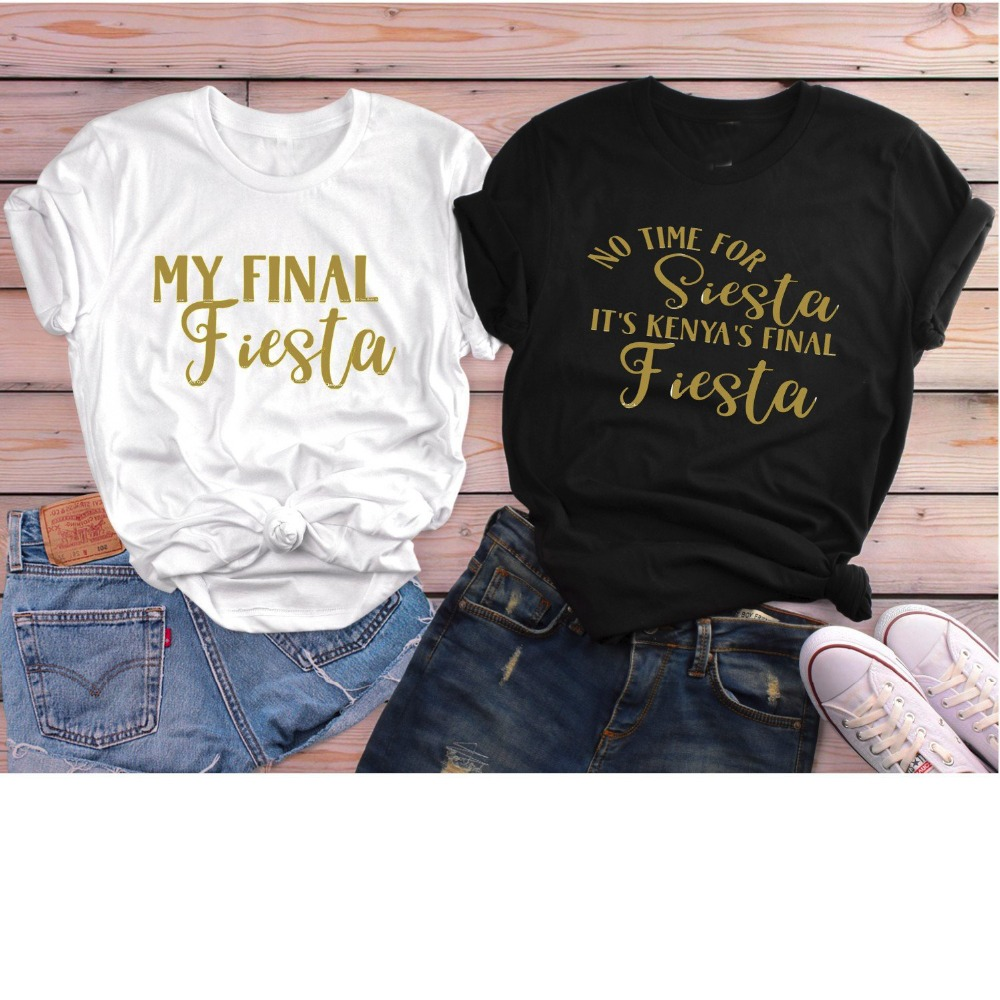 hot-selling official temperament shoes casual shoes US $7.9 15% OFF|Final Fiesta Shirts Bachelorette Party Shirt Girls Trip  Shirts women fashion 90s young street style tumblr cotton slogan tee top-in  ...