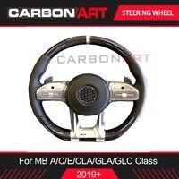 2019 W205 автозапчасти углеродного волокна руль для Mercedes A C class AMG A200L W177 новый класс E53 GLC CLS GLE класса обновления