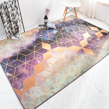 Nordic INS chenille carpet home bedroom bedside Hotel entrance elevator floor mat Living room sofa coffee table anti-slip carpet fashion round carpet bedroom ins bedroom living room coffee table mat bedside carpet anti slip mat strong absorbent carpet