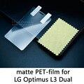 Lucent brillante esmerilado mate antideslumbrante film protector de pantalla protectora de cristal templado para lg optimus l3 dual sim e405 e405f