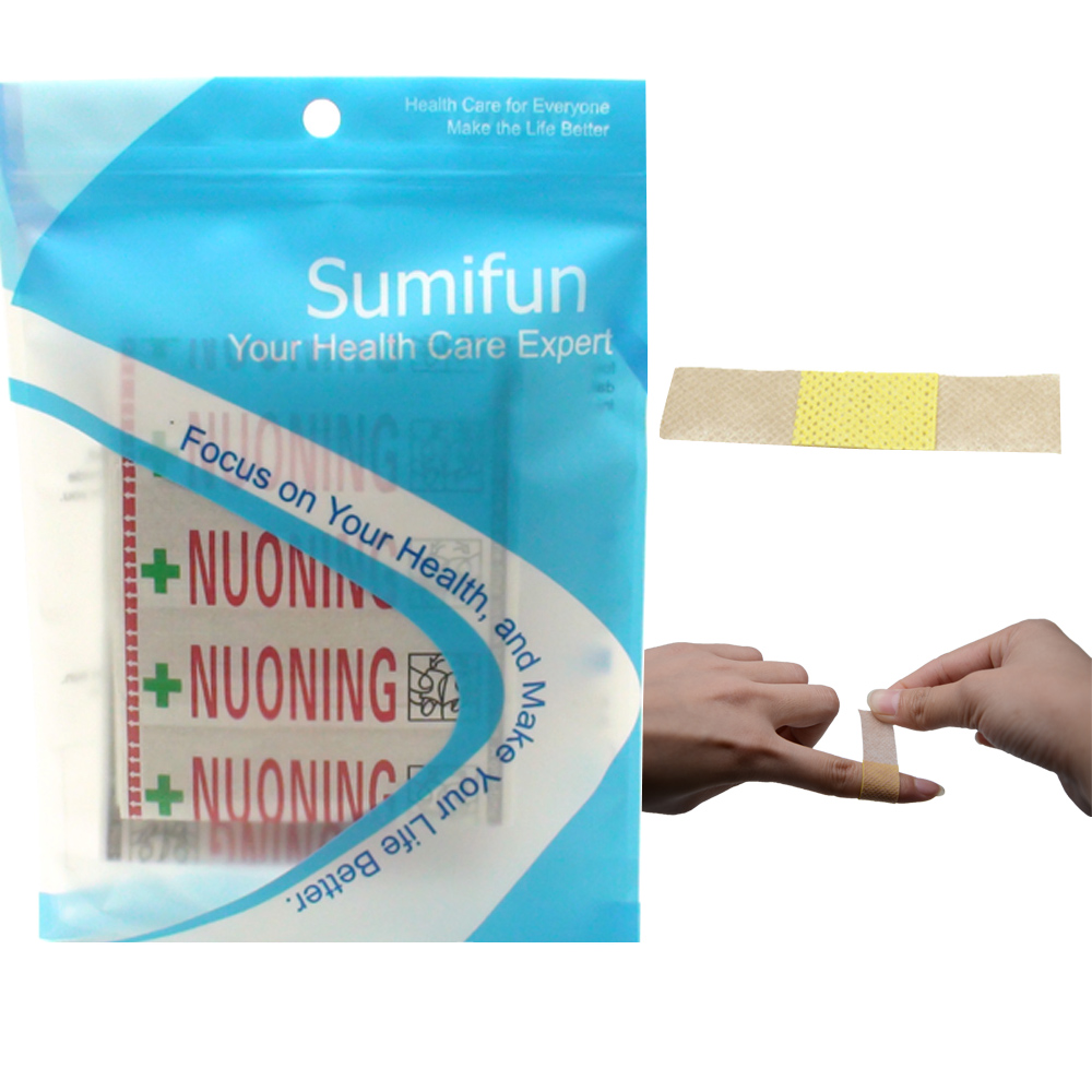100Pcs Band Aid Wound Dressings Sterile Hemostasis Stickers First Aid Bandage Heel Cushion Adhesive Plaster Random Color Z37001
