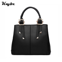 KXYBZ Brand Leather Metal Decoration Solid Wild Women Handbag High Quality Autumn Shoulder Bag For Women