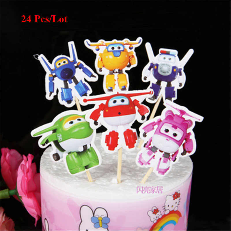Sensational Party Supplies Robot Topper Cake Flags Baby Boy Kids Children Personalised Birthday Cards Rectzonderlifede