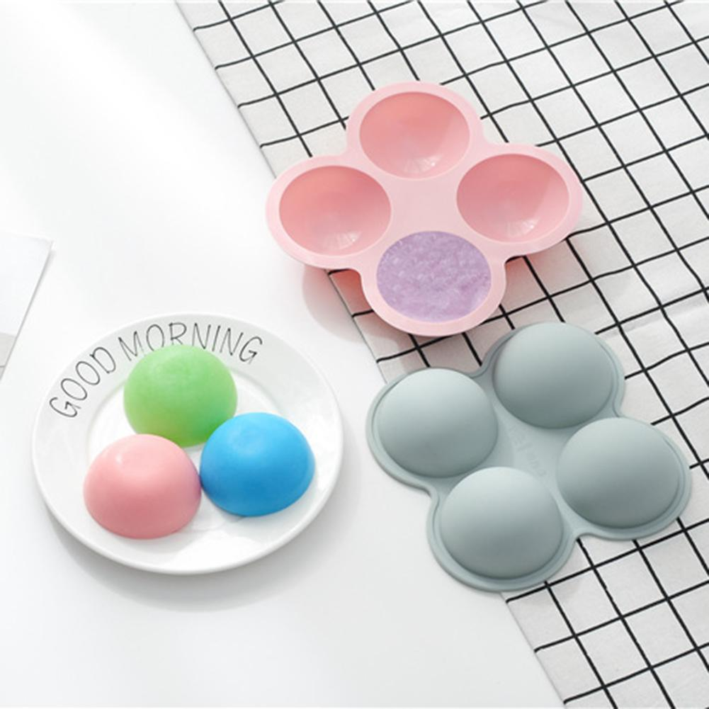 4 Grid Semi Circular Chocolate Silicone Mould Mini Cake DIY Mould Baking Tool Non toxic And Odorless Corrosion Resistance in Cake Molds from Home Garden