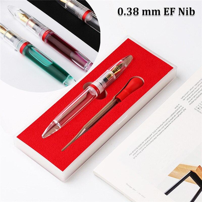 Dropper Iridium Punkt Extra Fein Nib Transparent Brunnen Stifte 0,38mm Langlebige Qualität