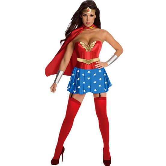 wonder women costume adult sexy dress roma heroine hottie captain hero america halloween costumes superwoman cosplay - Heroes Halloween Costumes