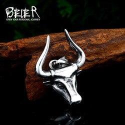 BEIER new arrival punk Odin bull stainless steel men pendant necklace pagan popular wallet wall street bull jewelry BP8-412
