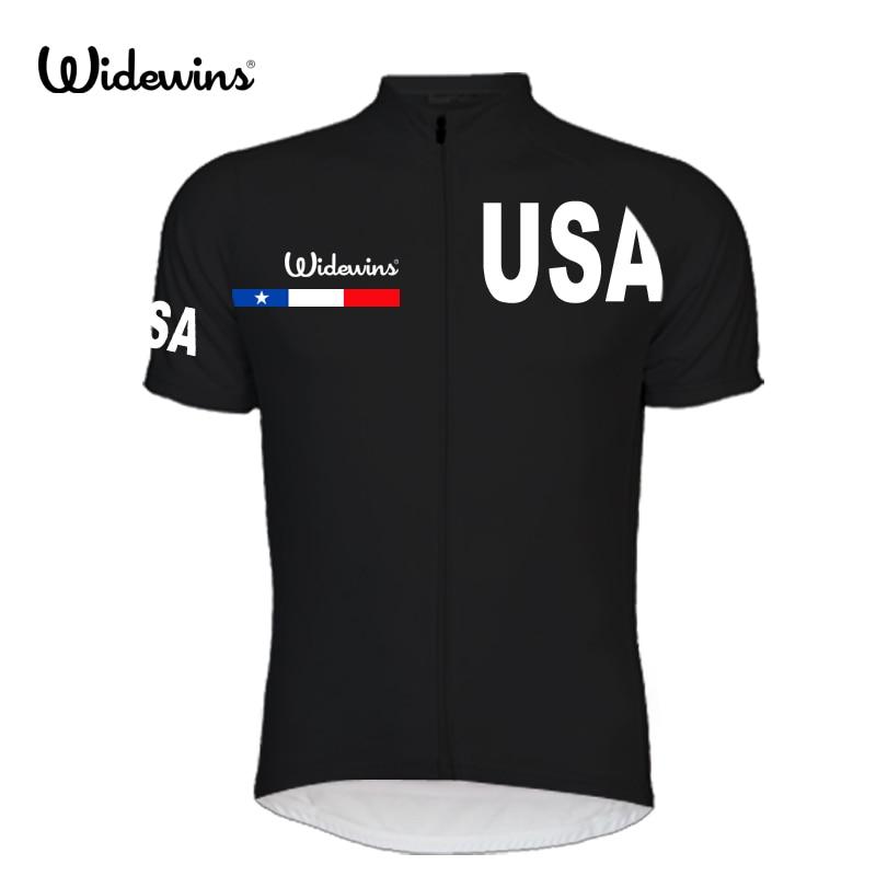 2017 Muži USA Cyklistický dres Pohodlný cyklistický dres Outdoor Cyklistické oblečení Doprava zdarma Rychleschnoucí 8004