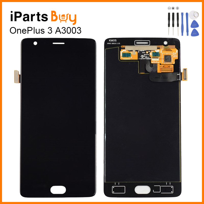 iPartsbuy OnePlus 3 LCD Screen LCD Display Touch Panel Digitizer Assembly Replacement For OnePlus 3 A3003 Touchscreen Display