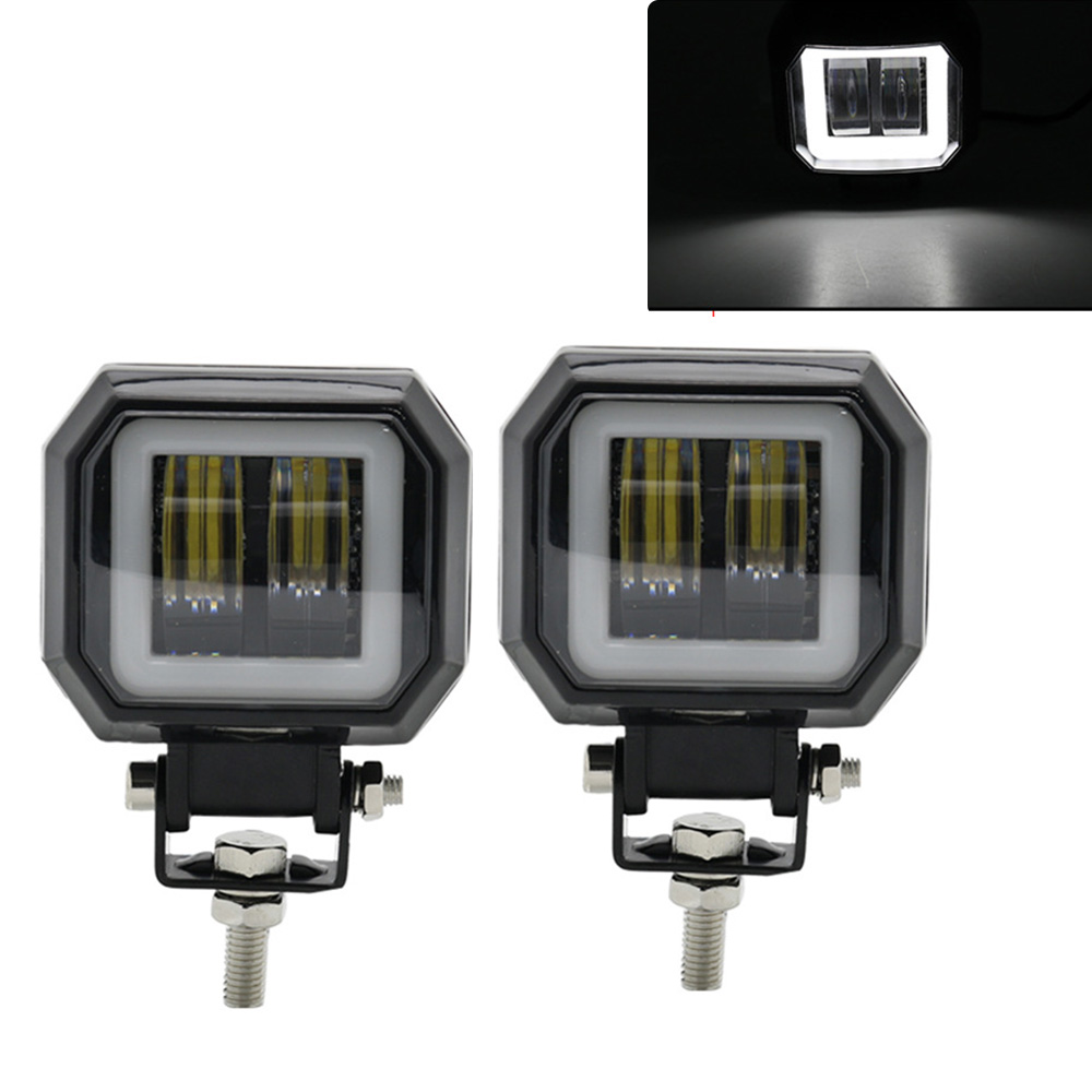 3inch 20W LED Work Lights Waterproof Square Angel Eyes Light Driving Pods Offroad Car Boat LED Bar Light Motorcycle ATV 6500K3inch 20W LED Work Lights Waterproof Square Angel Eyes Light Driving Pods Offroad Car Boat LED Bar Light Motorcycle ATV 6500K