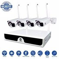 Беспроводной комплект 4CH видеонаблюдения NVR 1080 P IP Камера 2MP Wi Fi Камера CCTV Системы P2P CCTV Камера Беспроводной наблюдения Системы