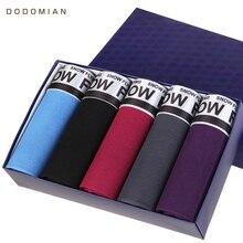 Calzoncillos bóxer de algodón para hombre, ropa interior de talla grande, L, XL, XXL, XXXL, 5 unidades/lote