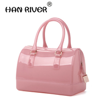 Jelly Bag 2017 Spring And Summer Women S Handbag Beach Candy Bucket Handbag For BOSS Portable