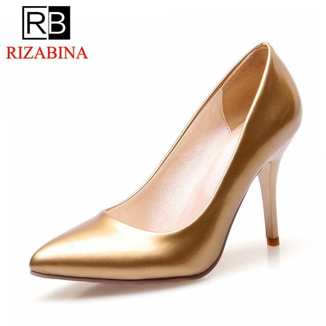 27a43931ec4ebc RizaBina escarpins femmes talons hauts bout pointu chaussures femme  chaussures de fête de mariage or argent