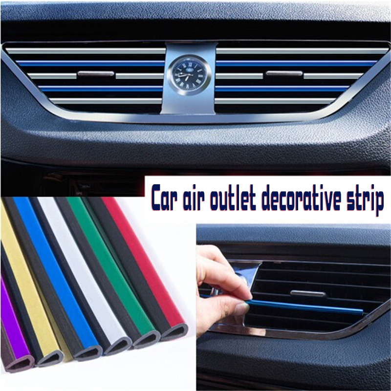 10 pieces batch car air conditioning vent grille switch edge decorative sticker U air conditioning outlet in Interior Mouldings from Automobiles Motorcycles
