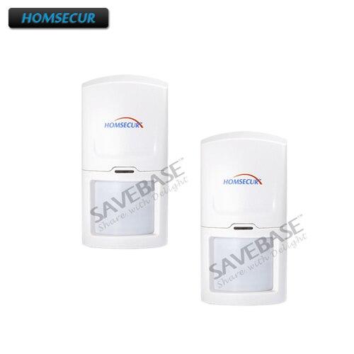 HOMSECUR 2PCS Wireless 433MHz PIR Motion Sensor For Home font b Alarm b font System A1