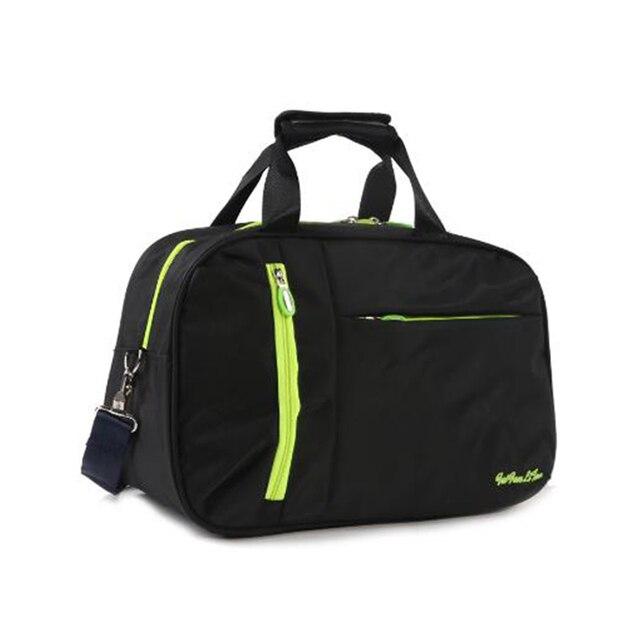 Nuevo bolso de viaje impermeable para mujer, bolso de mano para equipaje de Color sólido de nailon, bolso de lona de viaje portátil para hombre