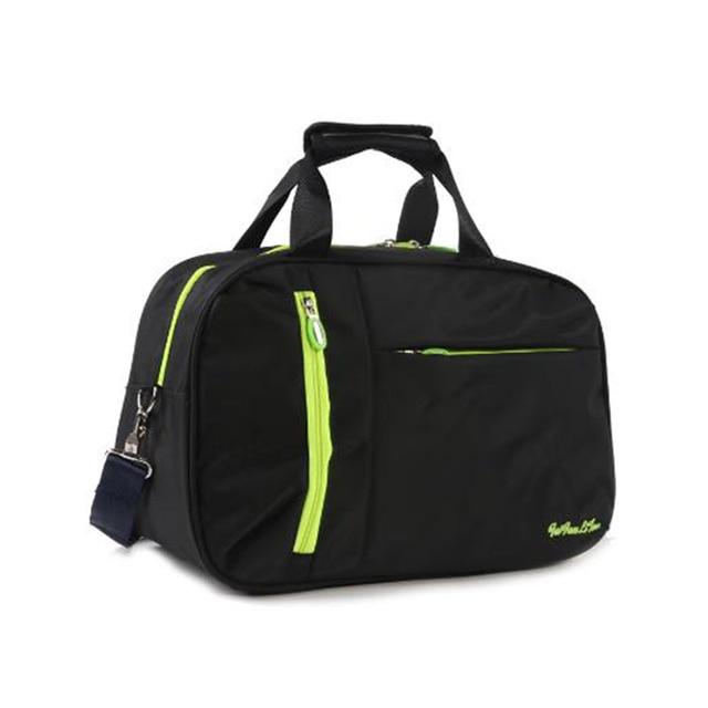 Wobag New Waterproof Women Travel Bags Nylon Casual Solid Color Luggage Tote Bag Men PortableTravel Duffle Bag