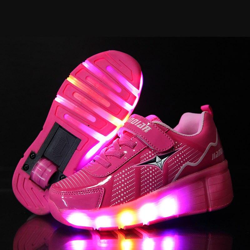 on sale deeb5 c13b8 Kinder Schuhe Roller Sneaker Ein Rad LED Beleuchtete Jungen ...