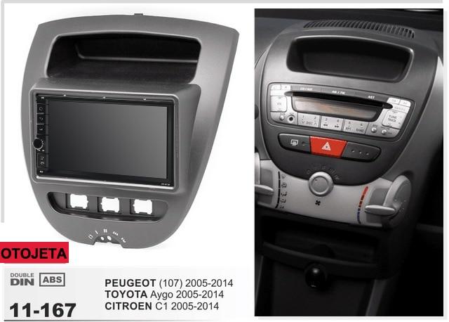 Navirider GPS Bluetooth Stereo Android 9.1 Car Multimedia For Peugeot 107 Toyota Aygo Citroen C1 2005+ Car Radio+frame+Camera