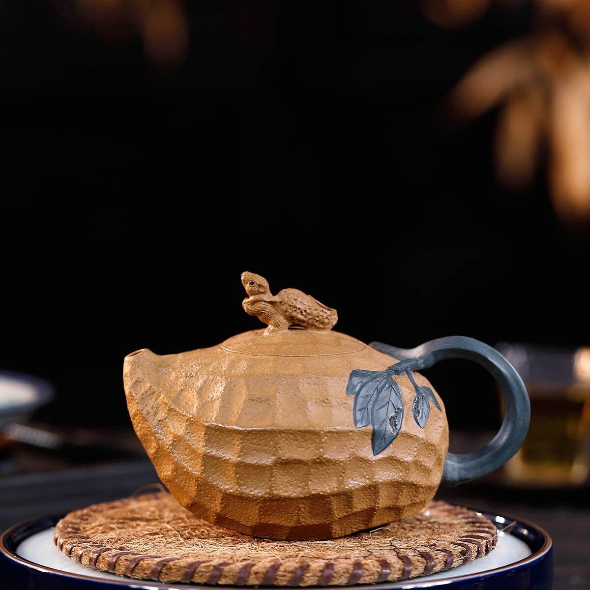 Poterie théière célèbre manuel Section de minerai brut boue arachide bouilloire Kungfu en ligne théière thé Set Infusion de thé fournitures de bureau