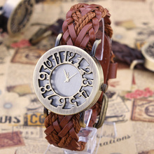 Hand Woven Thick Leather Watch