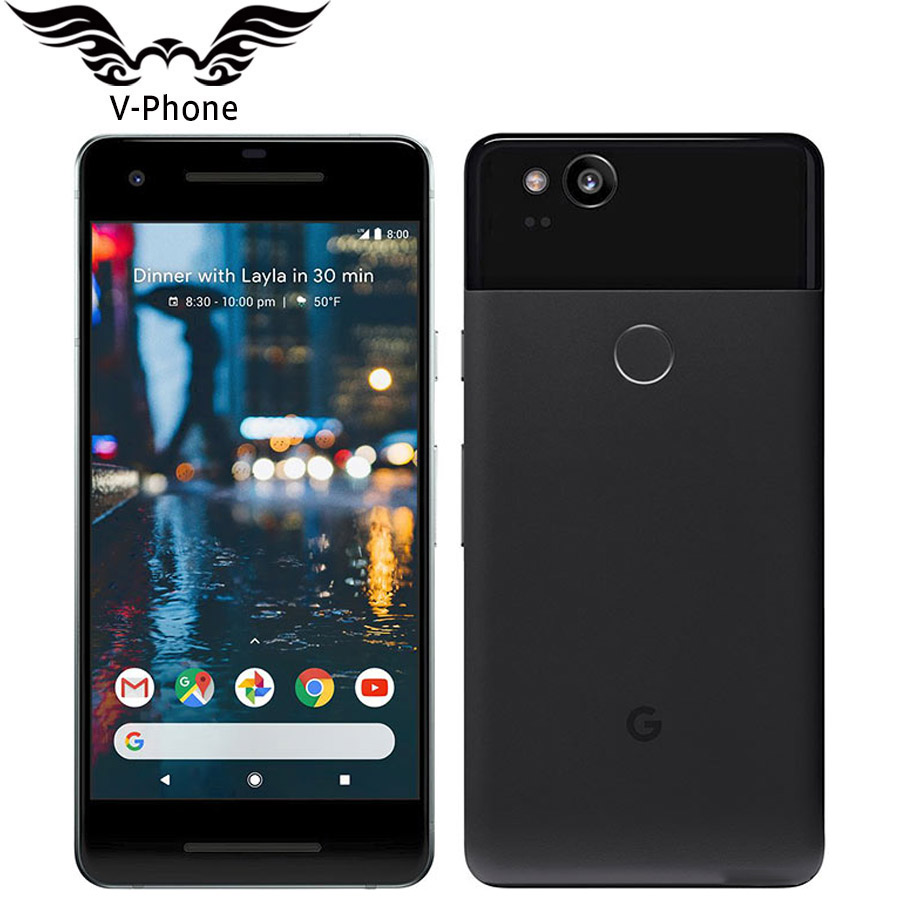 Original Brand NEW UE Version Google Pixel 2 4G LTE 64 GO 128 GB 5.0 ''Snapdragon 835 Octa core D'empreintes Digitales Android Mobile téléphone