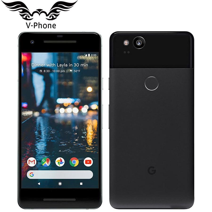 Original de la marca nueva versión UE Google Pixel 2 4G LTE 64 GB 128 GB 5,0 Snapdragon 835 Octa core huella dactilar teléfono móvil Android