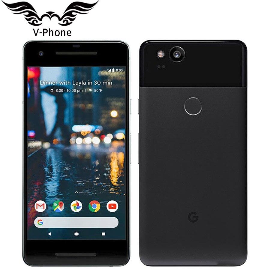 Teléfono móvil Original, totalmente nuevo, versión EU, Google Pixel 2 4G LTE, 64GB, 128GB, 5,0 '', Snapdragon 835 Octa Core, escáner de huella dactilar, so Android
