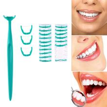 20 pcs Floss Kepala + 1 pc Menangani Interdental Sikat Gigi Tongkat Gigi Perawatan Bersih Pilihan Gigi Tusuk Gigi Penggantian Kepala Sikat Alat