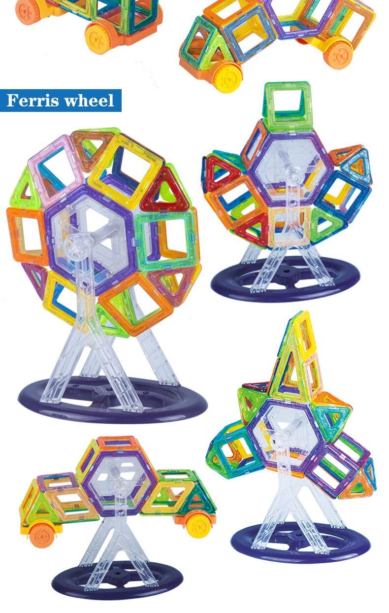 Magnetic Building Blocks 3d Ferris Wheel Model