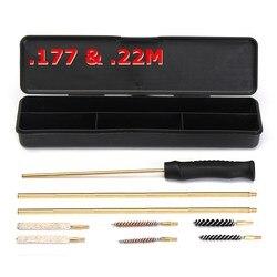 Kit de nettoyage de fusil de chasse 9 pièces Kit de brosse de nettoyage de baril 177 22 brosses et tiges pour pistolets à Air comprimé