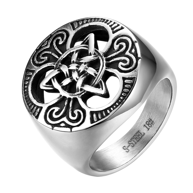 brixini.com - Vintage Stainless Steel Men's Ring