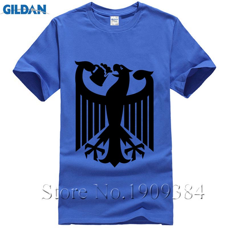 Coat of Arms of Germany T-shirts Short Sleeve New Pp Pp Plus Size Cotton Drinking Beer Eagle Cool Black Print Funny T Shirts