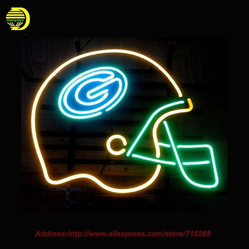 ჱnfl Green Bay 174 Packerss Packerss Football Helmet Neon